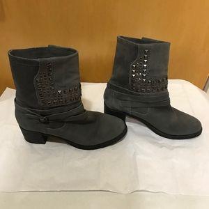 Vince Camuto | Gray Donato Studded Moto Boots, 9